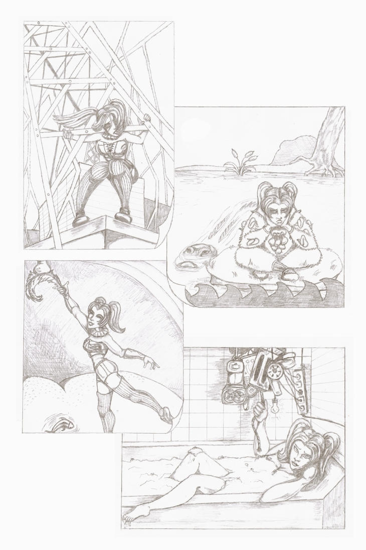 Harley Quinn Submission Page - Pencils by carriehowarth