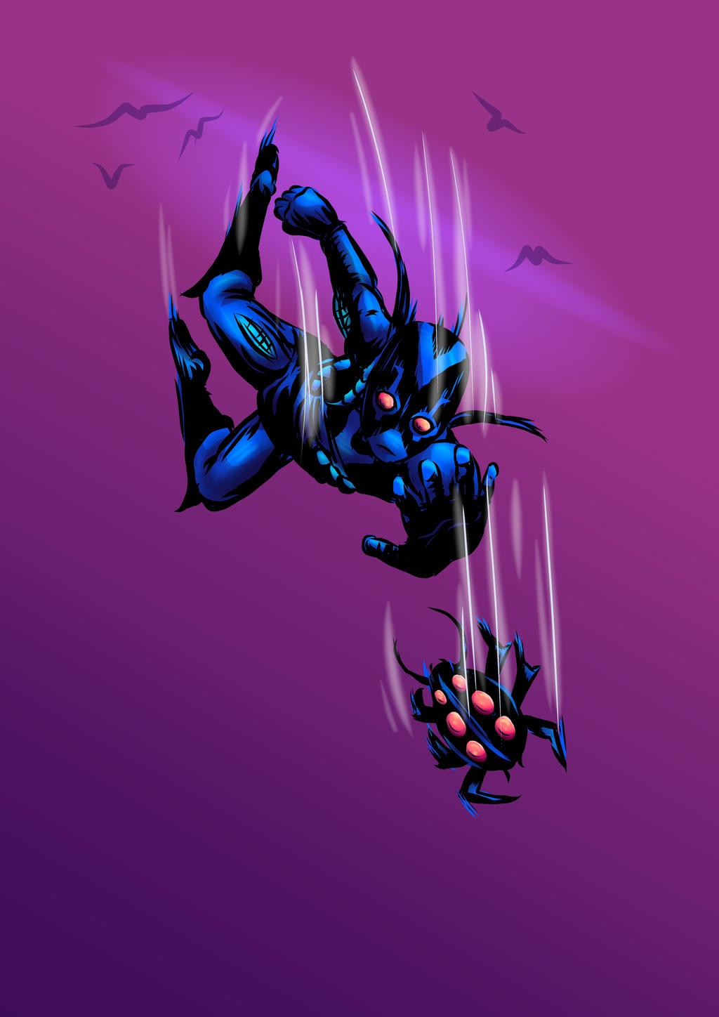 Belated Blue Beetle Birthday (with Birds) by carriehowarth