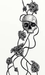 A Skull and Some Roses