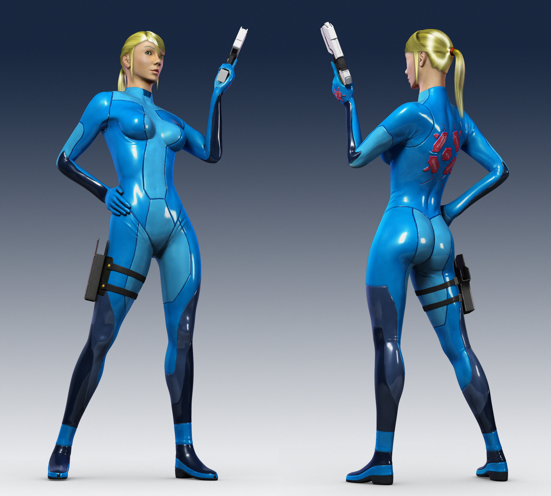 images of zero suit samus spacehero