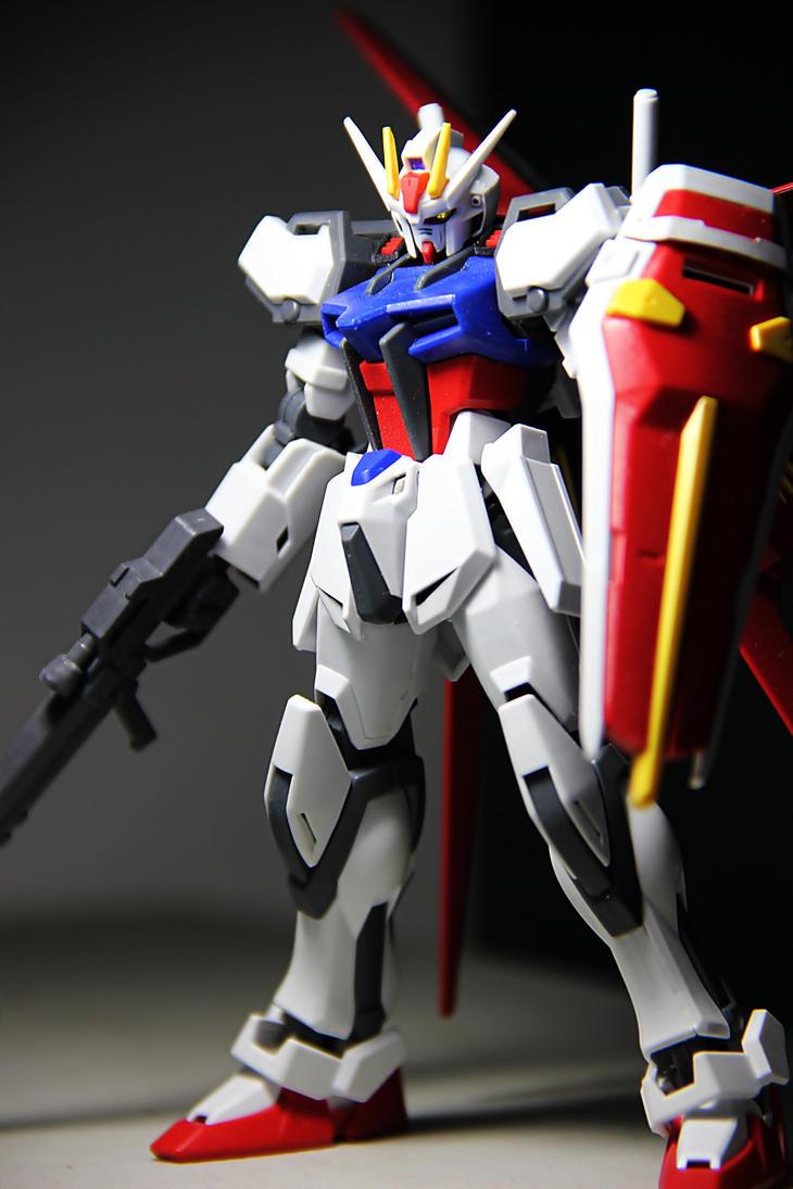 GAT-X105+AQM/E-X01 Aile Strike Gundam by splitzster