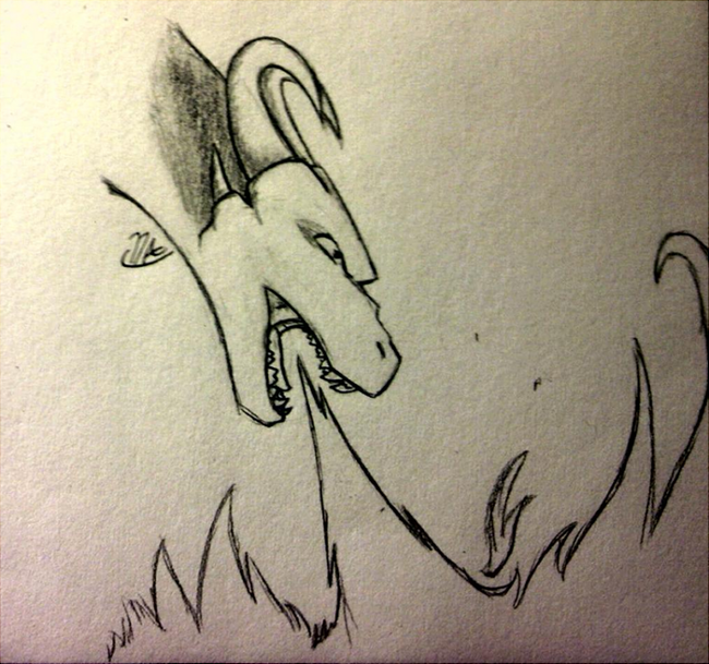 Doodle - dragon breathing fire by DeviousAngel5216 on ...