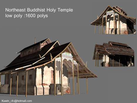 holy temple Lowpoly