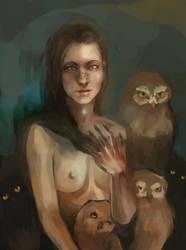 one strange owl by khaptas