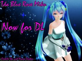 Tda Blue Rose Miku - DL - by IlianaCordan