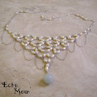 Pearl and Amazonite Necklace by EchoMoonJewelry