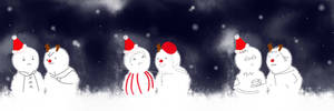 Merry winter with snowman ver:D by vagraine