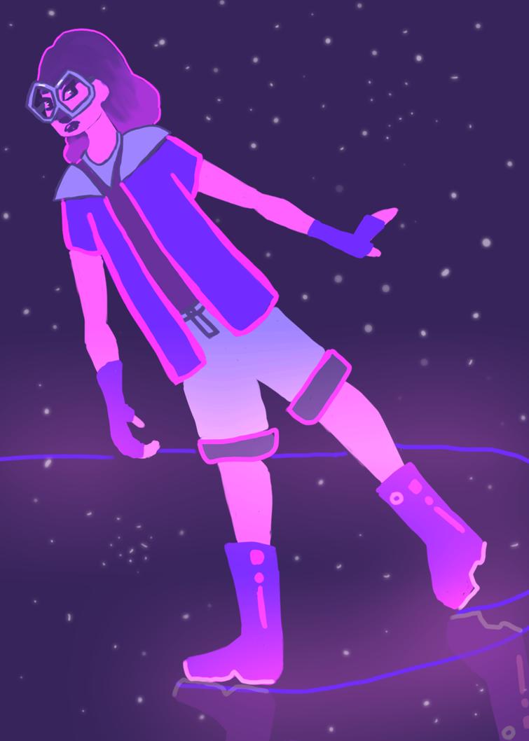 Space skater by emilybunnysoft