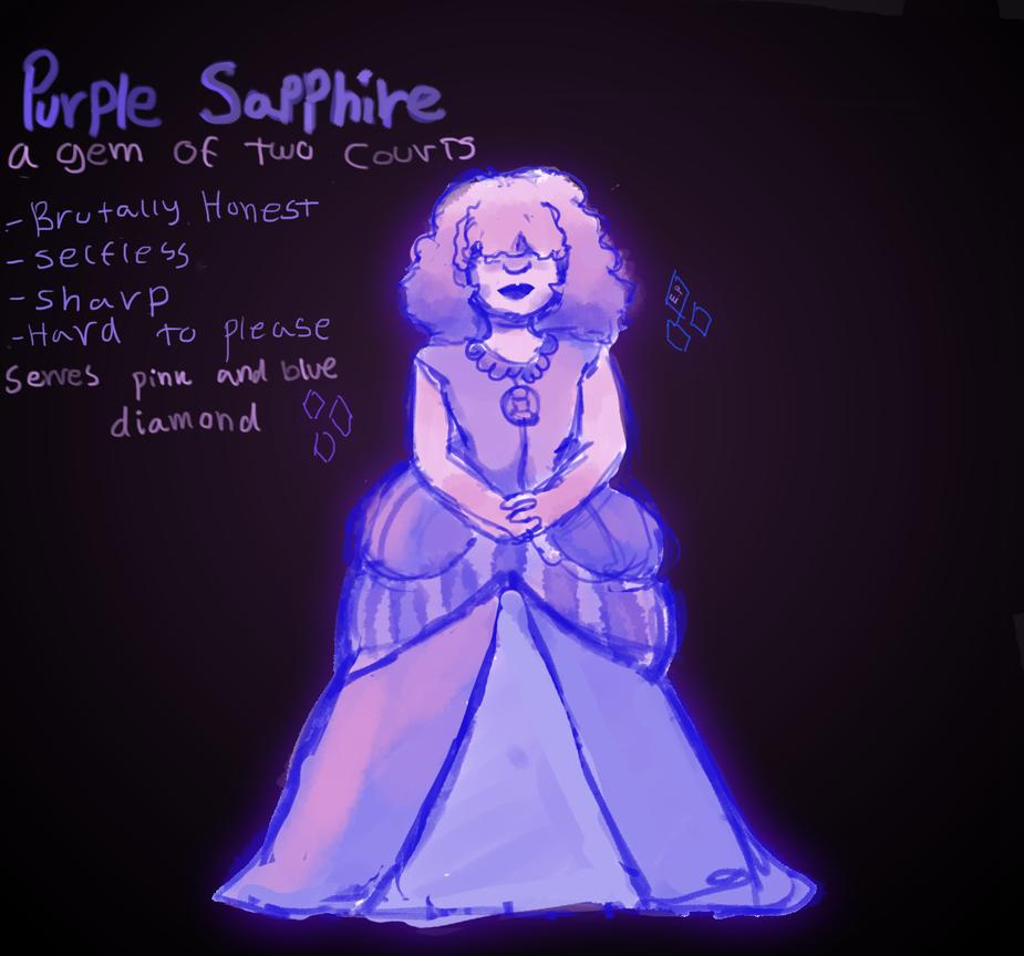 Purple sapphire - SU OC rough sketch by emilybunnysoft
