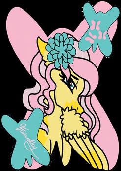 Fluttershy Sticker Design