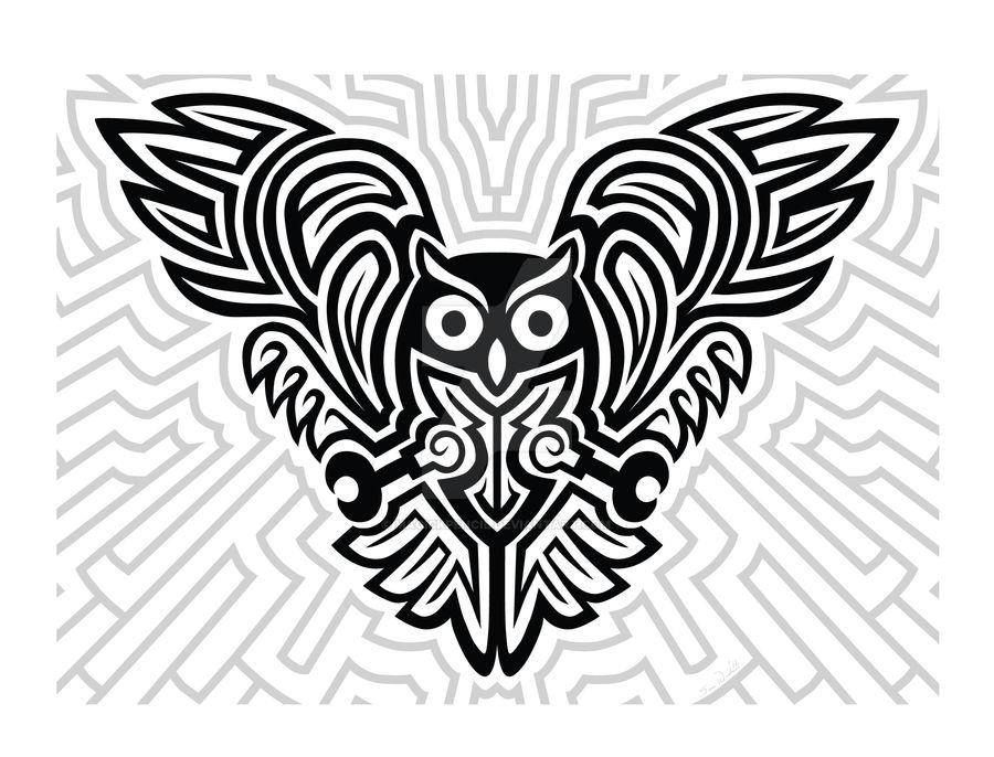 Futuristic Celtic Owl