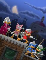 Junior Woodchuck Ninja Ducklings by mbosn