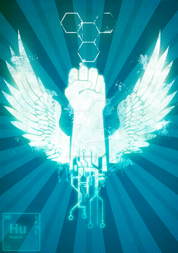 TransHumanism Poster by Todd3point0
