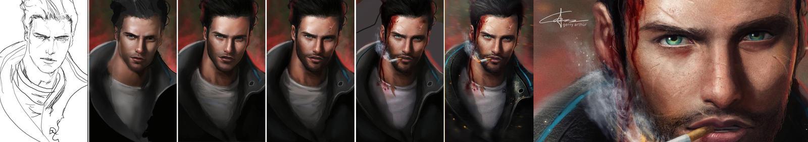 Making Of Gabriel's Nasty Cuts by GerryArthur