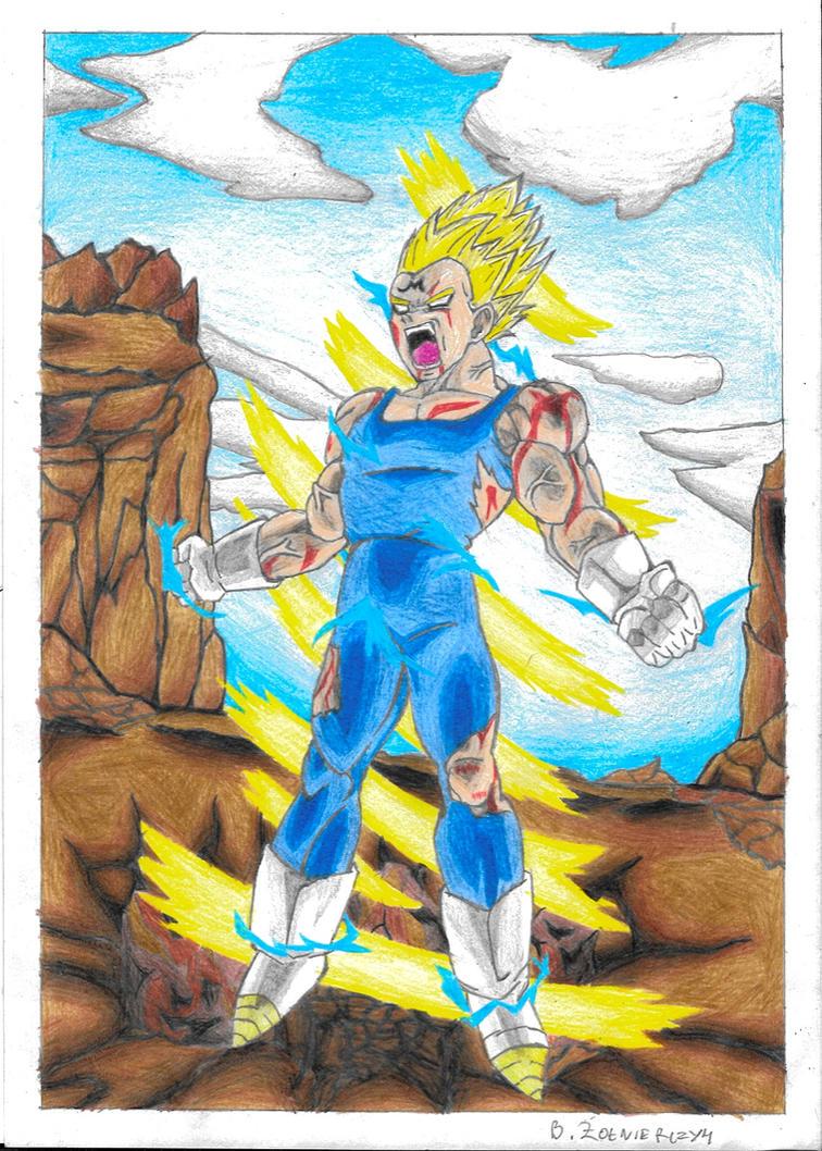 Majin Vegeta final explosion drawing. by polishrocky00 on ...