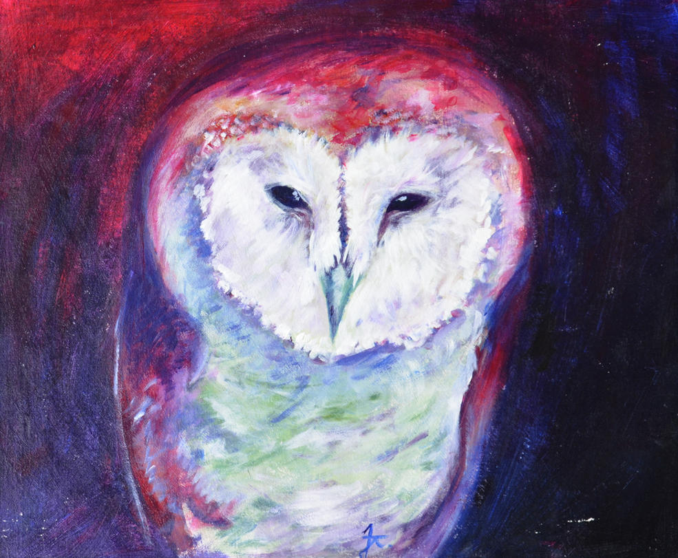 Owl - Acryl by JeanTaty