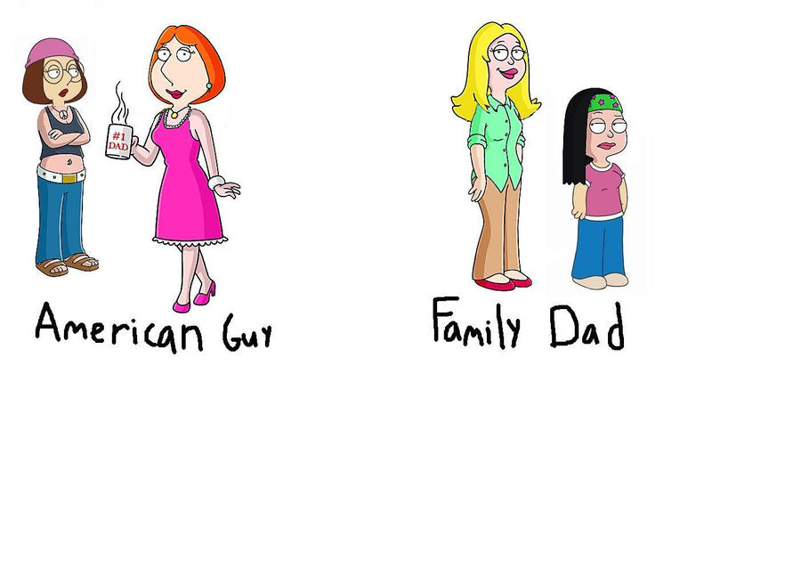 Family Guy And American Dad Comparison American Guy vs...