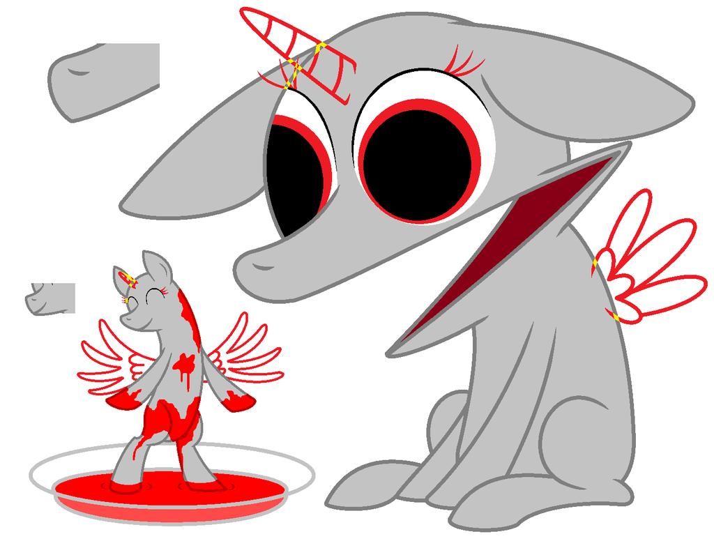 WTF Pony Base 1 (ms Paint Friendly) By SadisticCartoonGirl