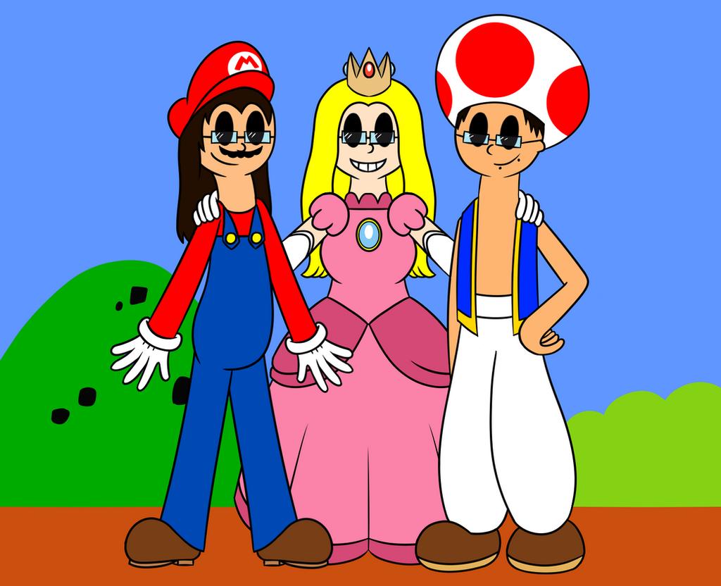 The Mario Gang by SadisticCartoonGirl