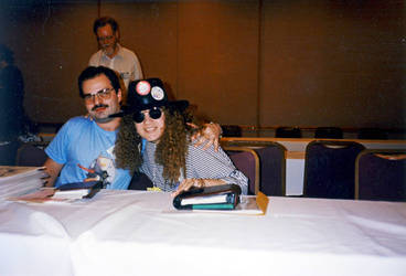 Teri S. Wood at ConFURence, 1990-something by jhwood9