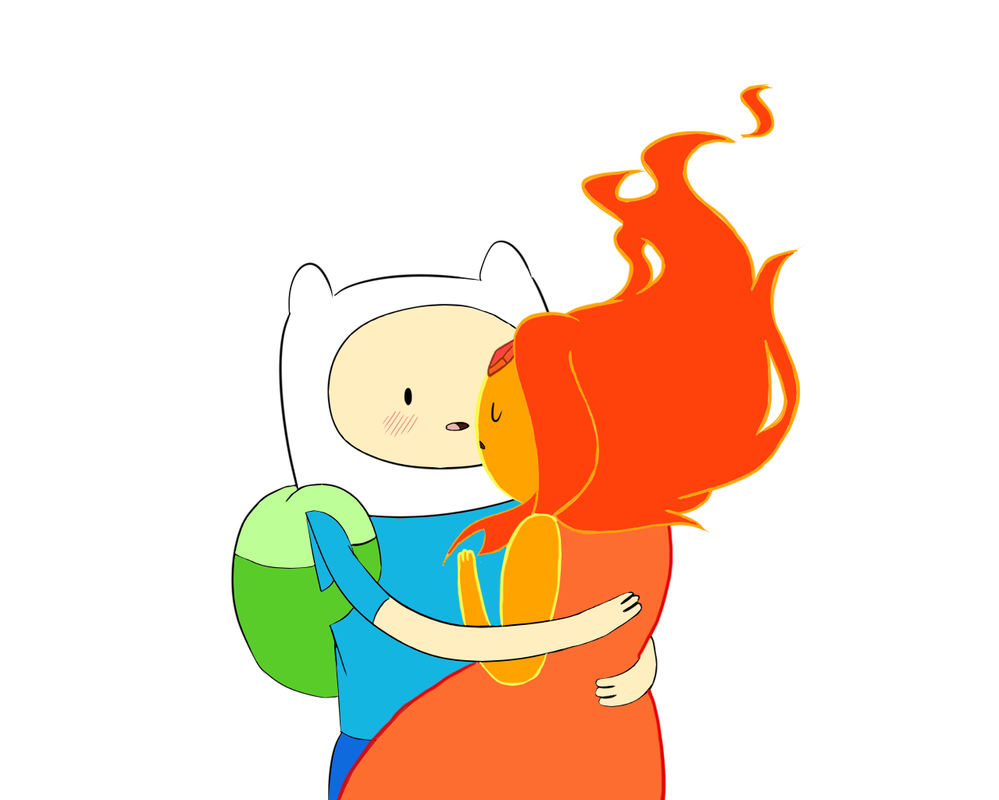 Adventuretime Finn and Flame Princess by cloudyshin on ...