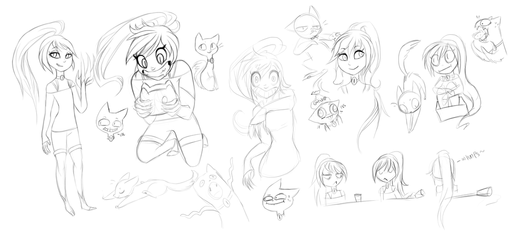 Catseye sketches(updated) by Miss-Cats