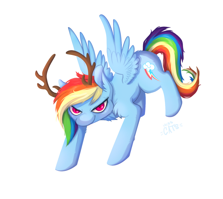 Merry Christmas Reindeer Rainbow Dash - Day 28 by Miss-Cats on ...