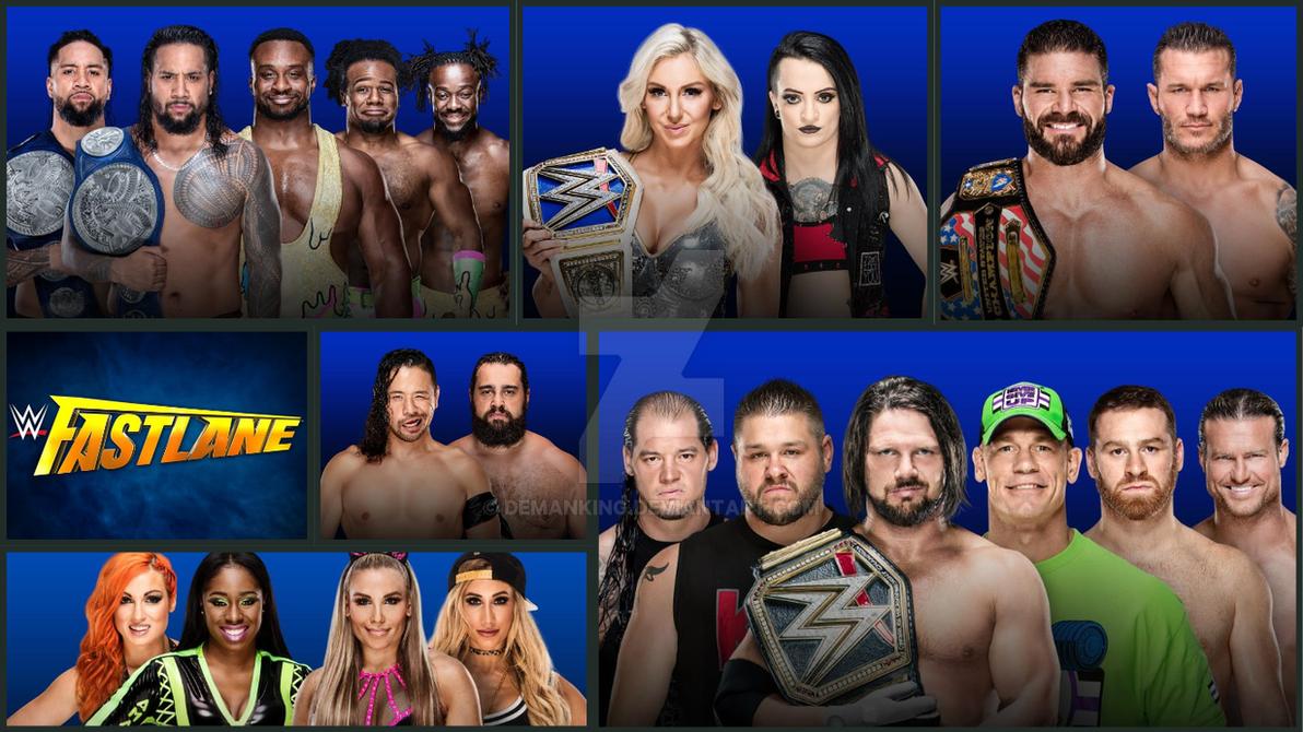 WWE Fastlane 2018 Matchcard by demanking on DeviantArt