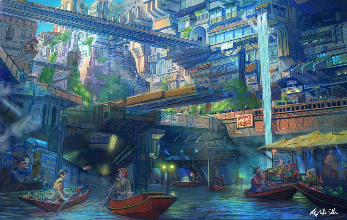 market concept by TylerEdlinArt