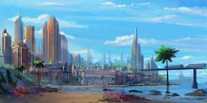 tall city concept