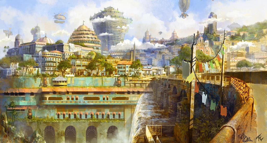 Hilltop City of Visegard by TylerEdlinArt