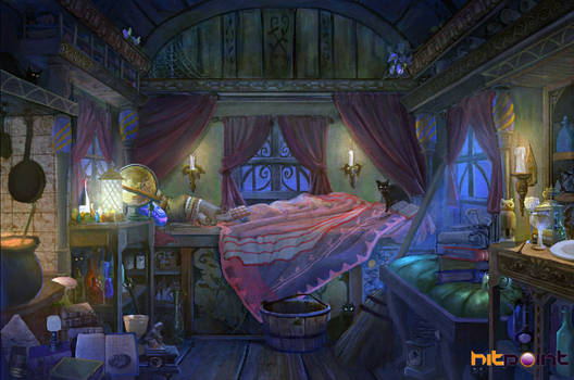 witches wagon interior concept by TylerEdlinArt