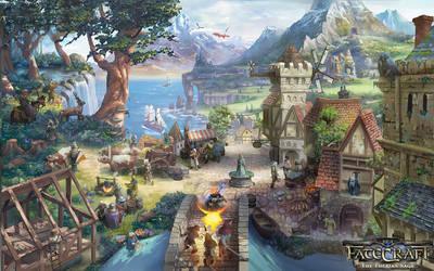 Fatecraft, The Therian Saga splashpage by TylerEdlinArt