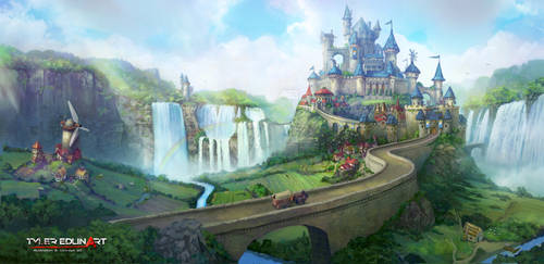 Castle town banner by TylerEdlinArt