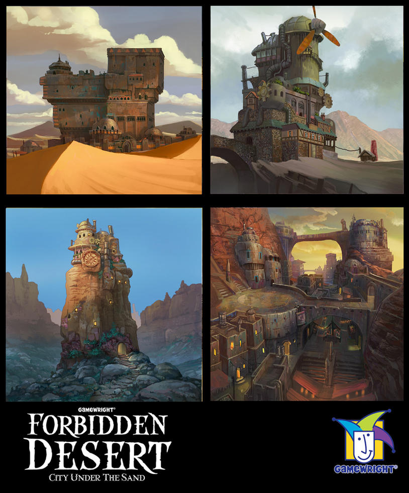 forbidden desert sample tiles by TylerEdlinArt