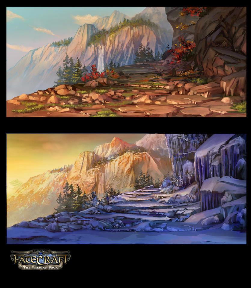 Fatecraft Mountains by TylerEdlinArt