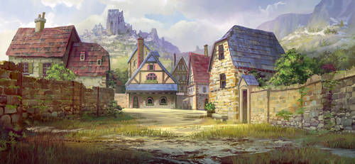 Fatecraft rural town tile by TylerEdlinArt