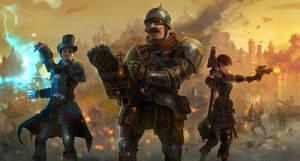 steampunk battle concept