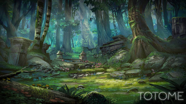 TOTOME forest by TylerEdlinArt