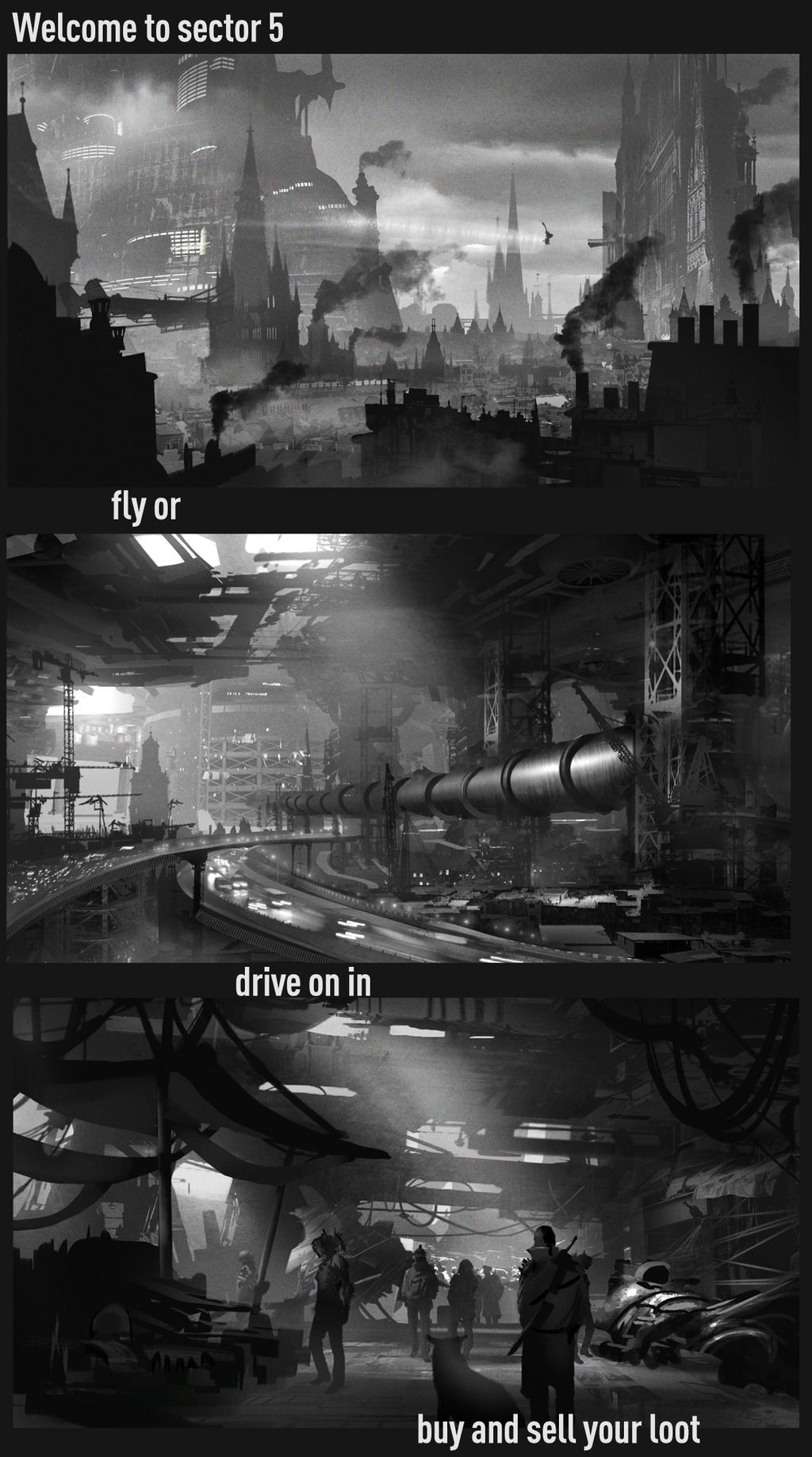 Sector 5 by TylerEdlinArt