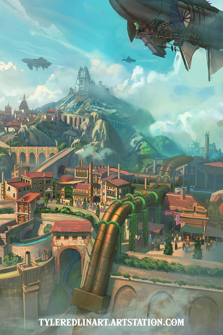 industrial city by TylerEdlinArt