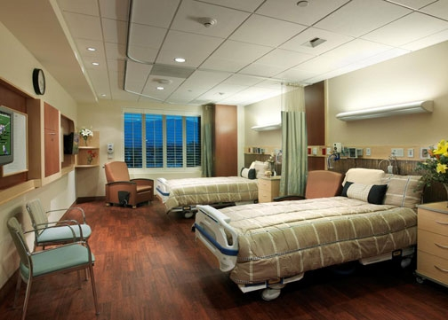 Healing colors design style for Hospital interior designs