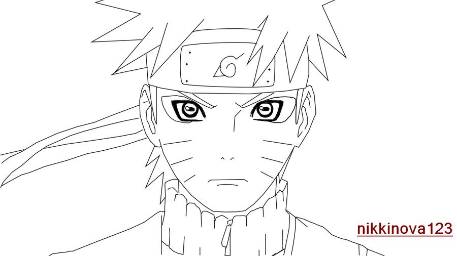 Naruto sage mode lineart by nikkinova art