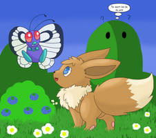 +Eevee and Butterfree+