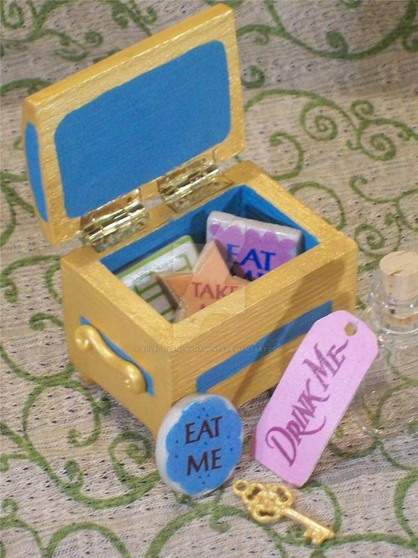 Alice In Wonderland Eat Me Cake Box