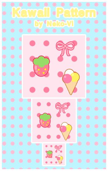 Kawaii Pattern by Neko-Vi