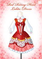Red Riding Hood Lolita Dress by Neko-Vi