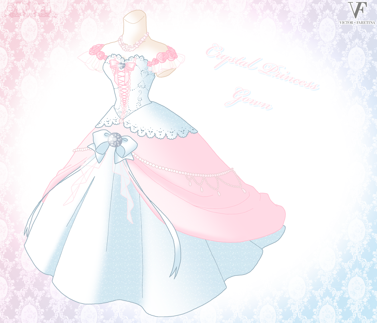 Crystal Princess Gown by Neko-Vi on DeviantArt