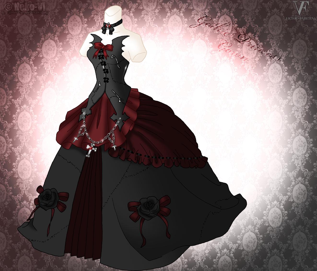 gothic princess gown by nekovi on deviantart
