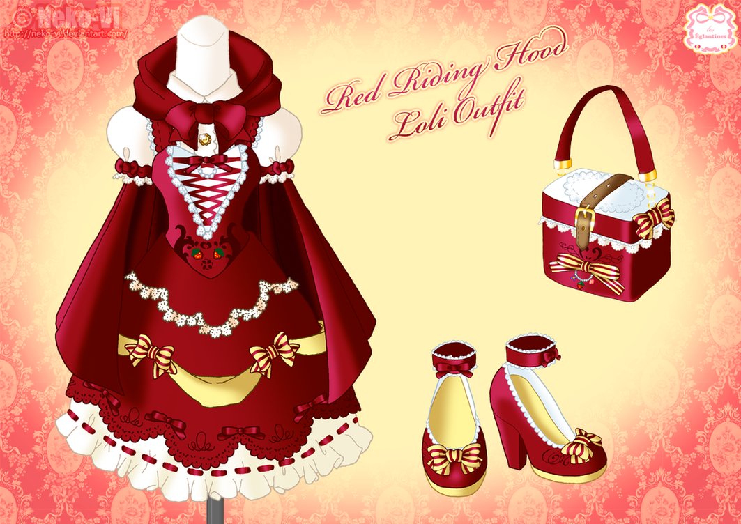Red Riding Hood Loli Outfit by Neko-Vi